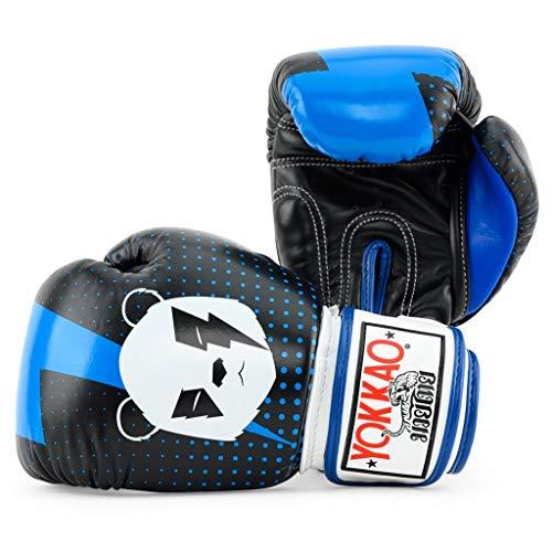 YOKKAO Black Panda Muay Thai Boxing Gloves Breathable Leather