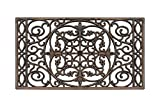 A1 Home Collections Rubber Grill Doormat, Elegant Star Pattern