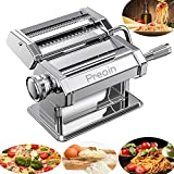 Preoin Homemade Pasta Maker, Manual Pasta Machine with 8 Adjustable Thickness Settings Dough Roller for Fresh Fettuccine, Lasagna, Ravioli and Spaghetti