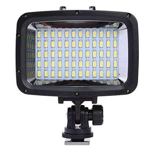Luz de Buceo LED cámara de buceo Video Luz de relleno 1800lm Lámpara de fotografía de luz de buceo bajo el agua para foto de estudio Accesorios para Bucear ( Color : Black , Size : 110x90x50mm )