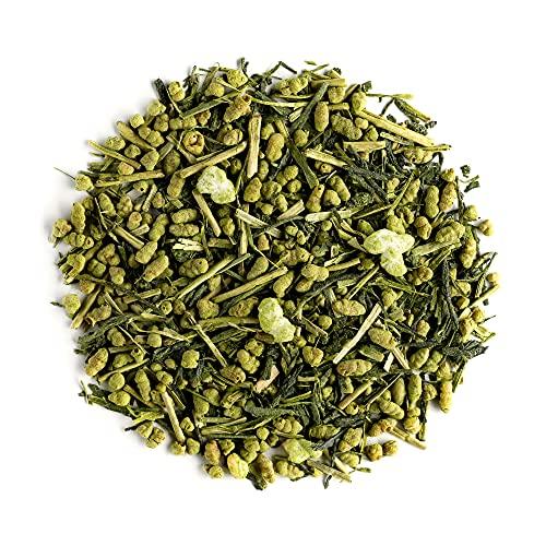 Genmaicha Biologico Giapponese Riso Tostato - Tè Verde Genmai Cha Con Matcha Direttamente Dal Giappone - Tè Popcorn In Foglia Al Riso Integrale Tostato 50g