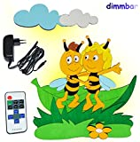 alles-meine.de GmbH 3-D Wandlampe - LED dimmbar mit Fernbedienung / Lichtprogrammen aus Holz - Biene Maja und Willi - Lampe mit Schalter für Kinder - Kinderzimmer Kinderlampe Wan..
