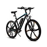 POLESITTER 350W Electric Bike, 26' Magnesium Alloy Integrated Wheel, Adults Electric Commuter Bicycle, Mountain Bike, Professional Shimano 21 Speed Gears