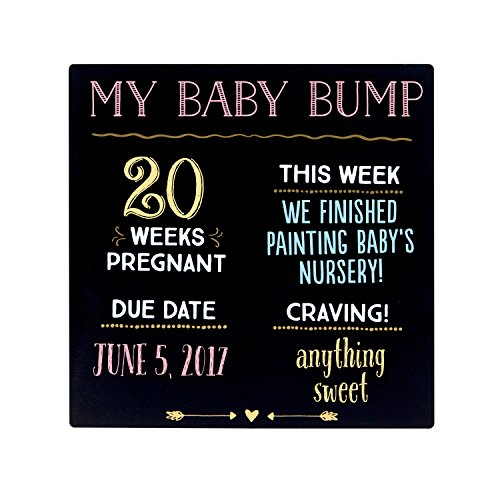 Pearhead'My Baby Bump' Reusable Photo Sharing Pregnancy Chalkboard with Included...