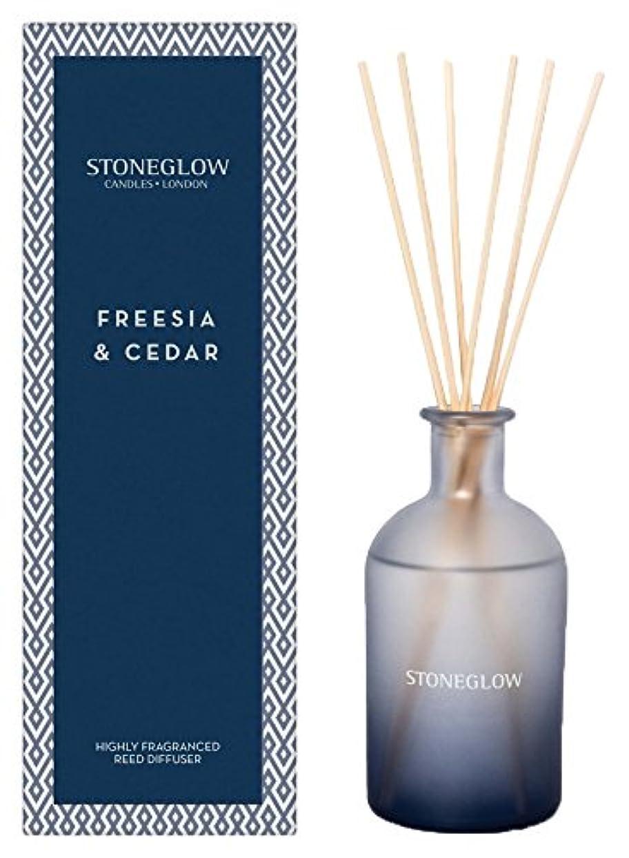 溶かす簡単に中傷STONEGLOW (ストーングロー) リードディフューザー200ml / フリージア&シダー