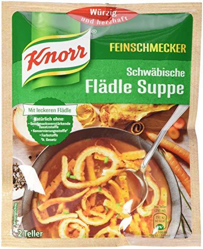 Knorr Feinschmecker Schwäbische Flädle Suppe, 2 Teller, 15er Pack