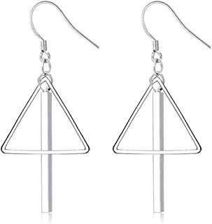 JczR.Y Women Punk Triangle Circle Square Long Bar Tassel Dangle Earring Fashion Jewelry Gift