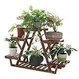 Unho soporte de madera para flores estantería para macetas plantas con 6 estantes para jardín exterior interior balcón terraza esquina 71 x 25. 4 x 58cm