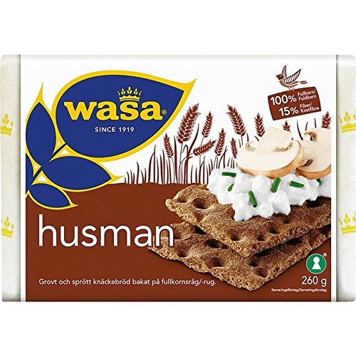 Wasa Husman - Pan Crujiente De Centeno 260g (Paquete de 6)