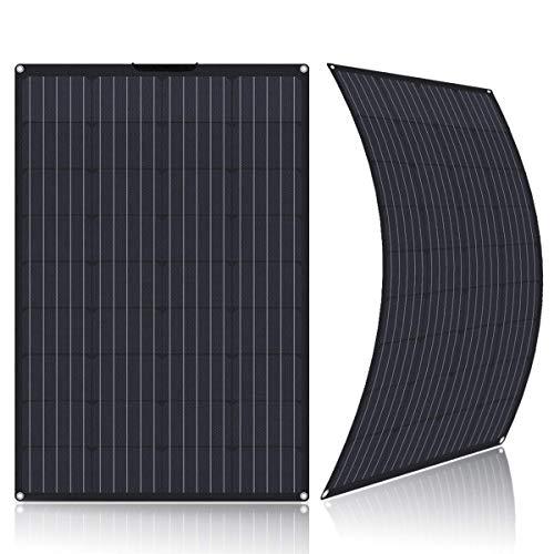 Pannello solare flessibile da 100 Watt, 12 Volt, ultra leggero, semi-flessibile, con connettori Mc4 per moto, caravan, camper, boats, Roofs