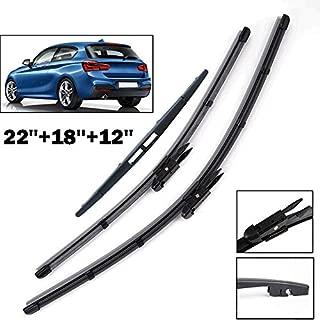 FidgetKute 3Pcs/Set Front Rear Window Windshield Wiper Blades Fit for BMW 1 Series F20 F21