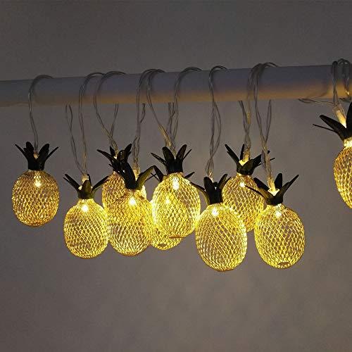 Guangmaoxin LED Lichterkette, USB Lichterkette Außen, Ananas Nachtlicht Deko Stimmungslichter, für Garten, Terrasse, Bäume, Hof, Haus Party, 3 Meter (10 LED)
