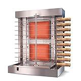 110v 220v Uso en el hogar Máquina de shawarma de kebab a gas Calefacción eléctrica BBQ Plancha de cordero Asador de carne con calentamiento giratorio vertical