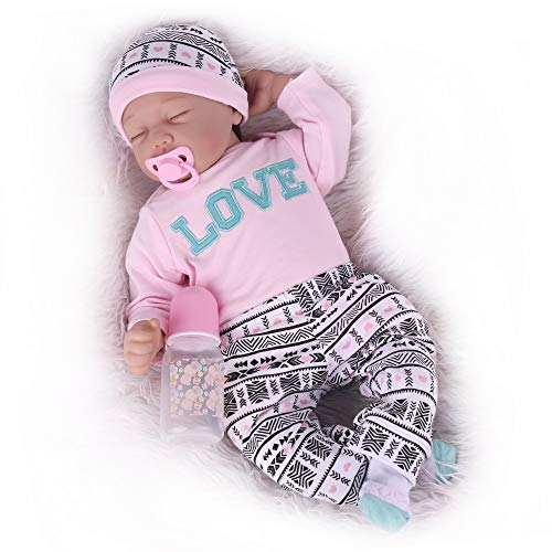 Kaydora Reborn Baby Doll, 22 inch Weighted Baby Girl,Sleeping Newborn Baby Doll