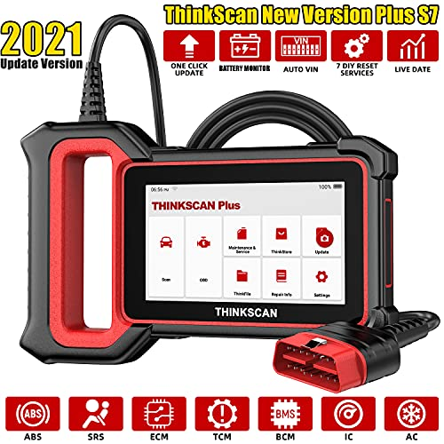 ThinkScan OBD2 Scanner ABS/SRS/Engine/Transmission/BCM/AC/IC Code Readers & Scan Tools Plus S7...