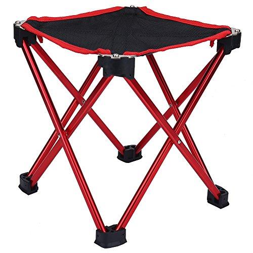 VGEBY Tabouret Pliant, Mini Chaise Portative de Camping Léger Durable et Portable avec Sac de Rangement pour Barbecue, Pêche, Plage