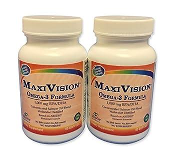 MedOp MaxiVision® Omega-3 Formula 60 softgels 2 Bottles