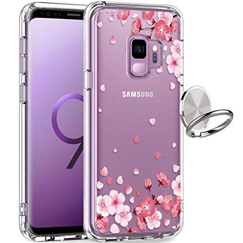 GiiKa Galaxy S9 Case, Clear Heavy Duty Shockproof Girls Women Protective Phone Cover Case for Samsung Galaxy S9, Pink Floral