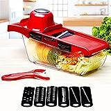 Fácil de limpiar Chopper de verduras Chopper de cebolla - Cortadora y cortadora en cubos para rebanar - Más fuerte y 30% pesada - Cuchilla de corte de dados para cortar alimentos de 6 cuchillas reempl