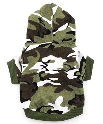Smalllee_Lucky_Store, camicia da cane vestito per cane di piccola taglia, verde con cappuccio Cane Carino Maglietta Dei Vestiti XS