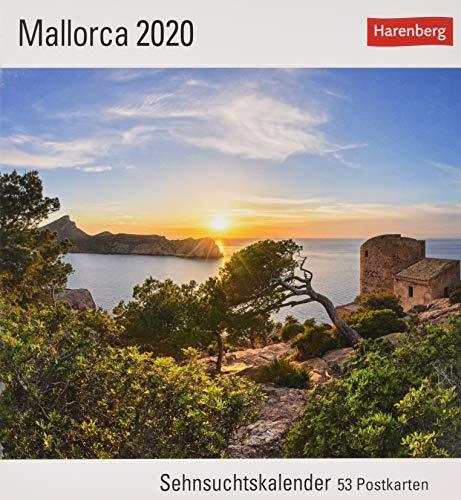 Mallorca Postkartenkalender 2020. Wochenkalendarium. Blockkalender. Format 16 x 17,5 cm