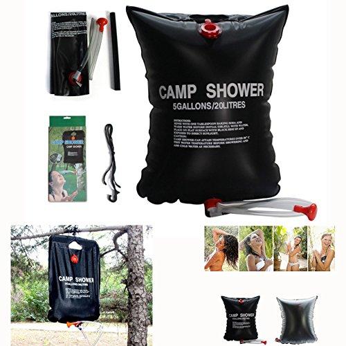 Ruiqas Douche de Camp 40L Pliable Sac de Bain Douche Solaire Protection de lenvironnement Camping en Plein Air Randonn/ée