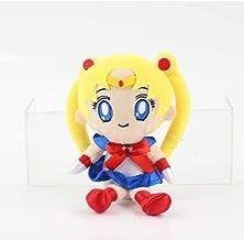Hanyyj Peluches Sailor Moon Chinbi Moon Jupiter Mercury Uranus Plutón Mars Chiba Mamoru Luna Artemis Diana Cat 20 Cm