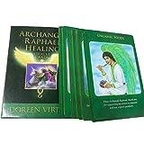 Tarot arcángel Raphael Healing Oracle Card, 44 Tarjetas, con una guía en inglés.