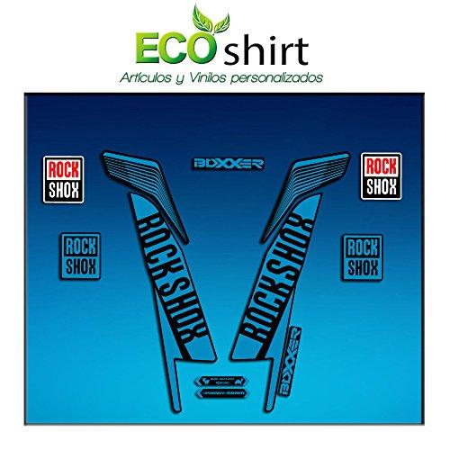 Ecoshirt WN-1IEW-GPQK Aufkleber Stickers Fork Rock Shox Boxxer World Cup 2016 Am78 Aufkleber Decals Autocollants Adesivi Forcela Gabel Rockshox, Blau