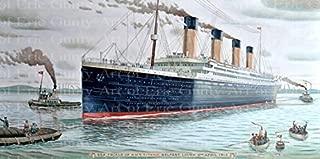 1/4 Sheet - The Titanic Birthday - Edible Cake/Cupcake Party Topper - D21939