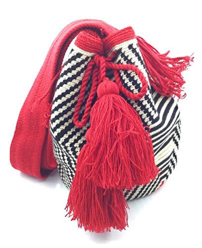 COLOMBIAN STYLE Bolsos Colombianos Artesanales de laberinto, mochila Wayuu tanto para mujer como para hombre.