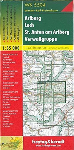 WK 5504 Arlberg - Lech - St. Anton am Arlberg - Verwallgruppe, Wanderkarte 1:35.000 (freytag & berndt Wander-Rad-Freizeitkarten)
