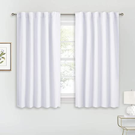 Pair Blackout Curtains Thermal Bedroom Living Room Darkening Home Drapes Panels