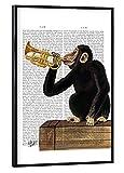 artboxONE Poster mit schwarzem Rahmen 30x20 cm Tiere