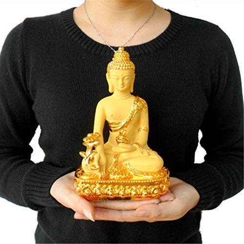 Stephen Statues & Sculptures - colored claze buddha statue fengshui god of wealth resin crafts opening gifts treasure bowl home office cornucopia decoration 1 PCs