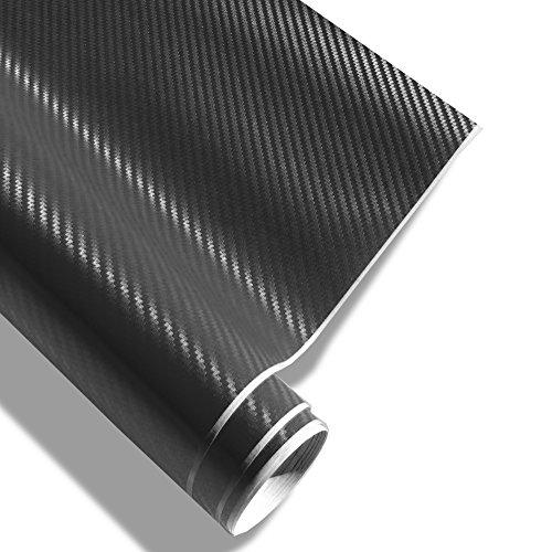 JOM Car Parts & Car Hifi GmbH 700005 Film Carbone Noir 146,5 x 200 cm, Structure 3D, avec Technologie de Pose sans Bulles, pour l'usage à l'intérieur Ainsi qu'à l'extérieur, Autocollant, PVC