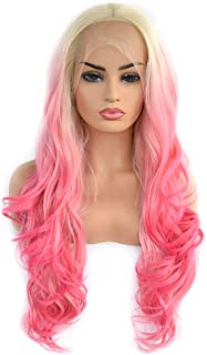Best pink ombre lace front wig Reviews