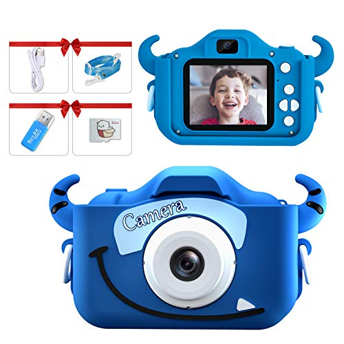 Kids Camera for Boy,Digital Camera for Kid,Children Camera Toy Game Educational,Video,1080P HD 32GB SD Birthday Gift Christmas Gift for Kids Age 3-8