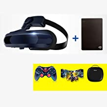 Aceyyk VR Headset 3D Theater Goggles,4K Blu-ray Player with S-Ony OLED 1920x1080 x2 HD Giant Screen Display Compatible with Set-top Box PS4 Xbox Drone PC Smart Phone,VRStes+1THDD