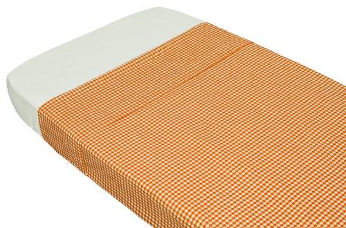 Taftan Drap de Lit Vichy orange (100 x 80 cm) - Orange