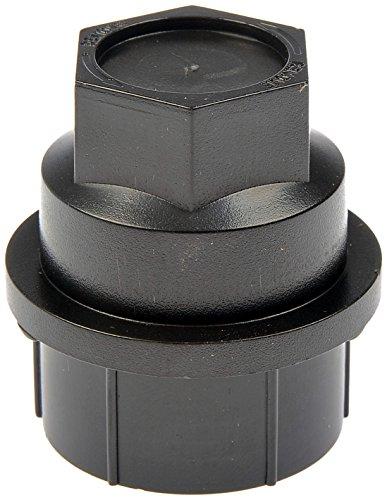 Dorman 711-025 Wheel Nut Cover M27-2.0 for Select Cadillac / Chevrolet / GMC Models - Black, 4 Pack