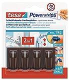 Tesa 58047-00002-00 Powerstrips - Ganchos adhesivos para cortinas Vario (4...