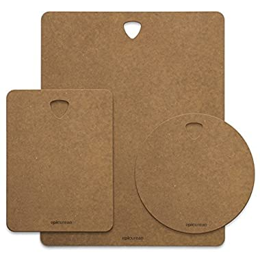 Epicurean Outdoor Kitchen Series Cutting and Serving Board Combination Pack (14x11, 8x6, 7.5 Round )