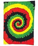 Karma Konnection 45' X 60' Rainbow Tie Dye Super Soft Fleece Blanket