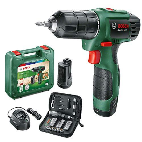 Bosch taladro EasyDrill 1200 (2 baterías de 1,5 Ah, 38 puntas de atornillar, sistema de 12V en maletín de transporte)