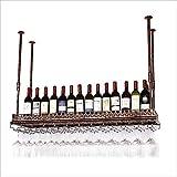 HLWJXS Bar Soporte para Vino Estante para Vino Estantes para Vino Soportes para Copas de Vino Soportes para Copas de Champán para la Sala de Estar Comedor Barras Alenamiento Fácil de Instalar, 100 *