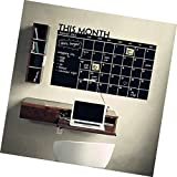 KEYkey Patrón mensual del planificador Calendario Pizarra Pegatinas de Pared extraíble DIY Wall Decal murales para niños Habitación Sala