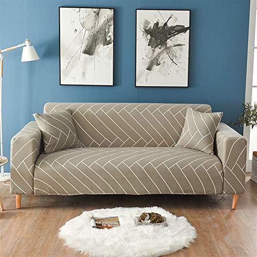 YMYGCC - Copridivano elasticizzato geometrico per divano e divano a forma di L