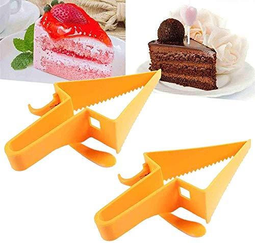 Adjustable Cake Divider, Triangle Cake Cutter, 2 in 1 Reusable Cakes Shovel, Plastic Cake Scraper Cutter, For Kitchen/Home Gadget (2)
