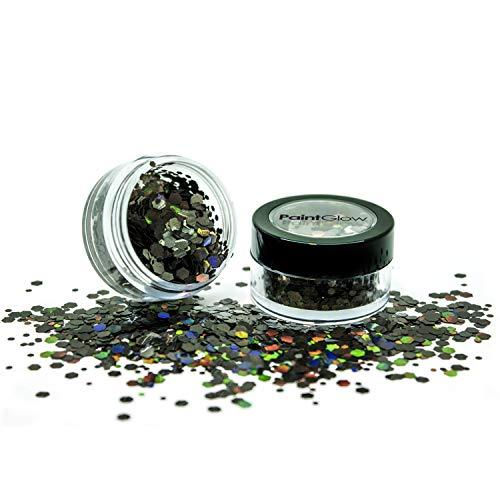 PaintGlow Glitter Grand globe holographique Black Star – 20 g